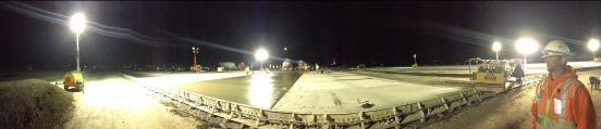 Night work at the Reno Tahoe International Airport
